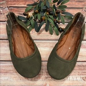 Lucky Brand Olive Green Emmie Textured Flats